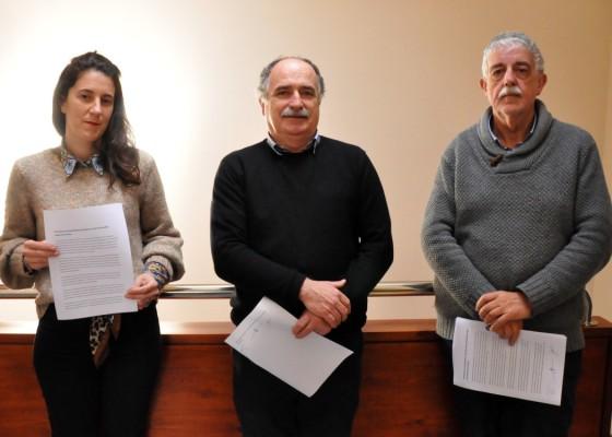 Estitxu Urtizberea (Abotsanitz), Xabier Isasi (EH Bildu) eta Josu Alvarez (PSE)